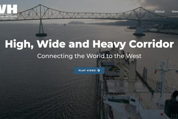 High Wide and Heavy Corridor website homepage with background video and video play button